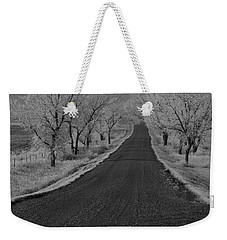A Rural Winter's Road Weekender Tote Bag