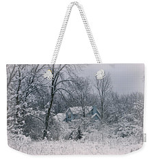 Winters Silence Weekender Tote Bag by Kay Novy