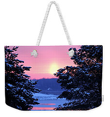 Weekender Tote Bag featuring the photograph Winter's Sunrise by Elizabeth Winter