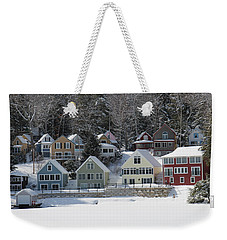 Wintery Alton Bay Nh Weekender Tote Bag