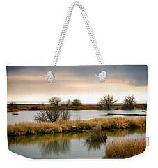 Weekender Tote Bag featuring the photograph Wintery Wetlands by Jordan Blackstone