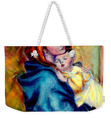 Mondonna Of The Street By Roberto Ferrizzi, Rendition In Pastel Antonia Citrino,  Sold.        Weekender Tote Bag by Antonia Citrino