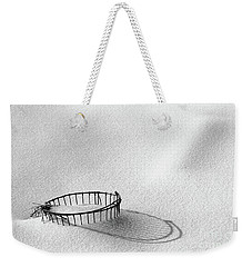 Wire Basket In Snow Weekender Tote Bag