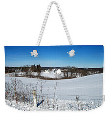 Wisconsin Countryside And A Fresh Layer Of White Weekender Tote Bag