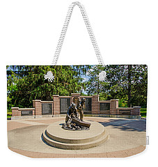 Weekender Tote Bag featuring the photograph Wisconsin State Firefighters Memorial 1 by Susan  McMenamin