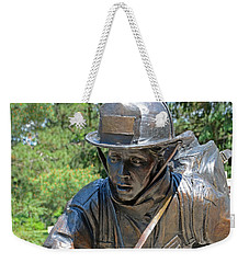 Weekender Tote Bag featuring the photograph Wisconsin State Firefighters Memorial 3  by Susan  McMenamin