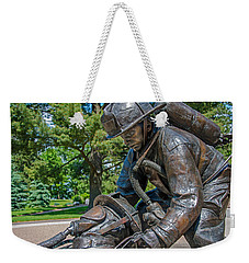 Weekender Tote Bag featuring the photograph Wisconsin State Firefighters Memorial 4 by Susan  McMenamin