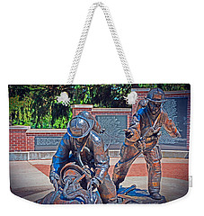 Weekender Tote Bag featuring the photograph Wisconsin State Firefighters Memorial Park 2 by Susan  McMenamin