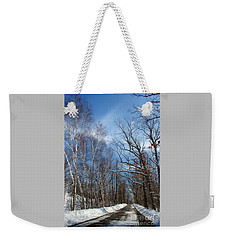 Wisconsin Winter Road Weekender Tote Bag