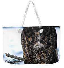 Weekender Tote Bag featuring the photograph Wise Old Owl by Sharon Elliott