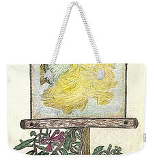 Weekender Tote Bag featuring the drawing Wish And Tell by Kim Pate