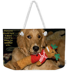 Wish For A Christmas Friend Weekender Tote Bag