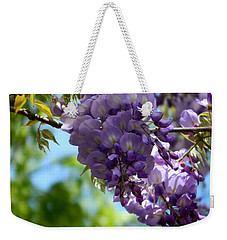 Wisteria Weekender Tote Bag by Andrea Anderegg