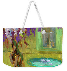 Wisteria At Hotel Baudy Weekender Tote Bag by Diane McClary