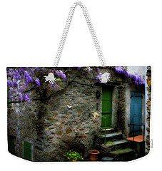 Wisteria On Stone House Weekender Tote Bag