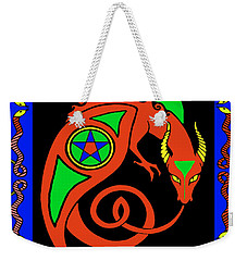 Weekender Tote Bag featuring the digital art Witches Dragon by Vagabond Folk Art - Virginia Vivier