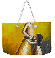 With Her Weekender Tote Bag by Jacqueline Athmann