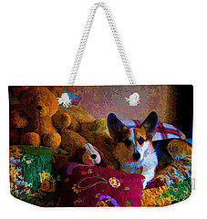 With His Friends On The Bed Weekender Tote Bag