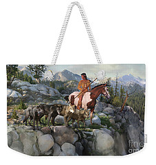 Wolf Maiden Weekender Tote Bag by Rob Corsetti