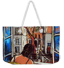 Woman At Window Weekender Tote Bag