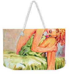 Woman In Blissful Ecstasy Weekender Tote Bag