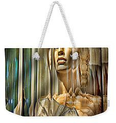 Woman In Glass Weekender Tote Bag