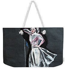 Woman In White Weekender Tote Bag by Tom Conway