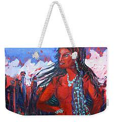 Woman Of The Whispering Wind Weekender Tote Bag by Avonelle Kelsey