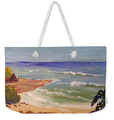 Weekender Tote Bag featuring the painting Wombarra Beach by Pamela  Meredith