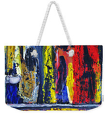 Weekender Tote Bag featuring the painting Women In Ceremony by Kicking Bear  Productions