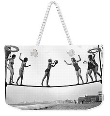 Women Play Beach Basketball Weekender Tote Bag by Underwood Archives