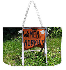Weekender Tote Bag featuring the photograph Women Working by Ed Weidman