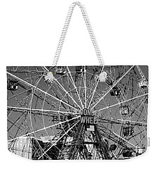 Wonder Wheel Of Coney Island In Black And White Weekender Tote Bag