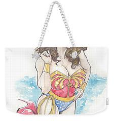 Wonder Woman Weekender Tote Bag by Jimmy Adams