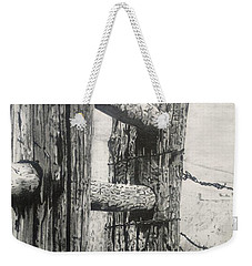 Wood And Wire Weekender Tote Bag