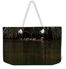 Wood Duck And Ducklings Weekender Tote Bag