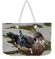 Wood Duck Weekender Tote Bag by Brenda Brown