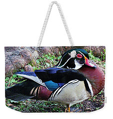 Weekender Tote Bag featuring the photograph Wood Duck by Cynthia Guinn