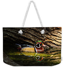 Wood Duck In Wood Weekender Tote Bag