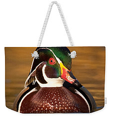 Wood Duck Weekender Tote Bag by Jerry Fornarotto