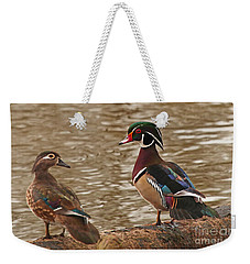 Wood Duck Photo Weekender Tote Bag by Luana K Perez