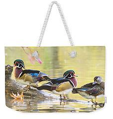 Wood-ducks Panorama Weekender Tote Bag