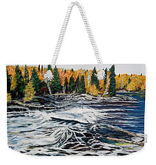 Wood Falls 2 Weekender Tote Bag