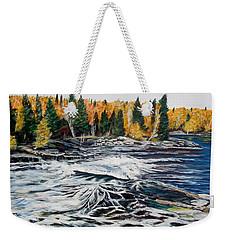 Wood Falls 2 Weekender Tote Bag by Marilyn  McNish