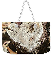 Wood Heart Weekender Tote Bag