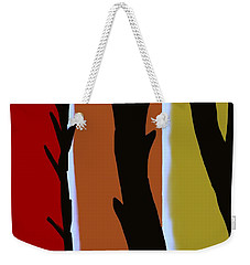 Weekender Tote Bag featuring the digital art Wood L by Christine Fournier