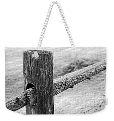 Wood Railing Weekender Tote Bag