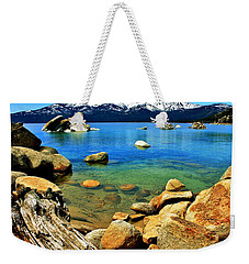 Wood Stone Water Weekender Tote Bag by Benjamin Yeager