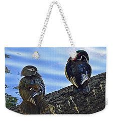 Weekender Tote Bag featuring the photograph Wood You Love Me Forever by Robert Meanor