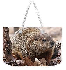Woodchuck Watching Weekender Tote Bag